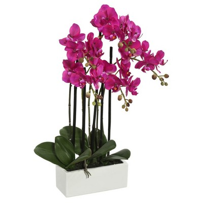Artificial Potted Orchid (21 )Purple - Vickerman
