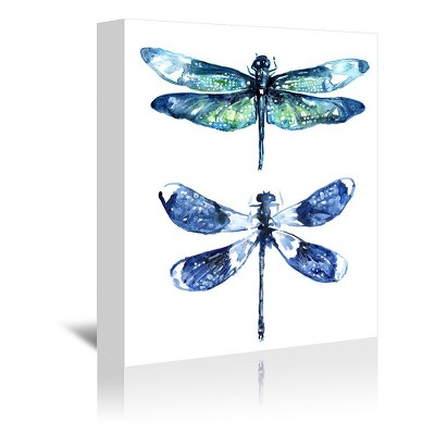 Americanflat Dragonfly Wings by Sam Nagel Wrapped Canvas