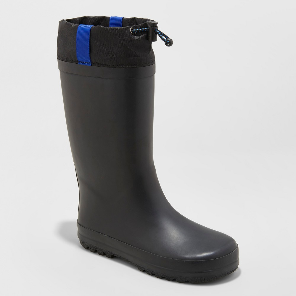 Image of Boys' Caleb Rain Boots - Cat & Jack Black 13, Boy's
