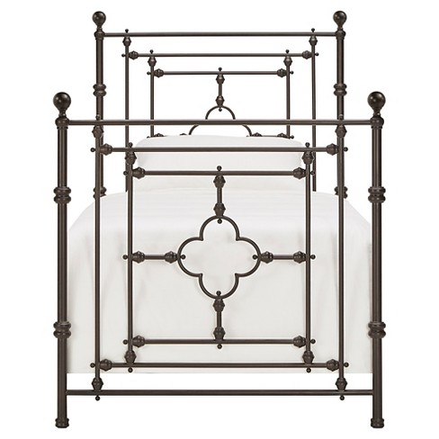 Kingsdale Quatrefoil Detail Metal Bed Twin -Dark Brown Inspire Q - image 1 of 6