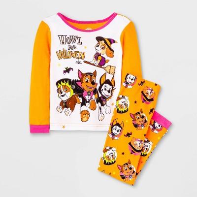 Toddler Girls' 2pc PAW Patrol Halloween Pajama Set - Orange