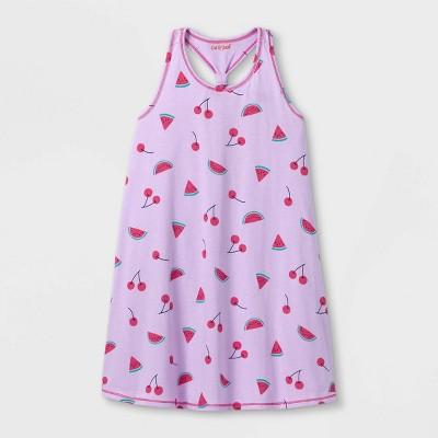 Girls' Printed Sleeveless Knit Dress - Cat & Jack™ Light Purple