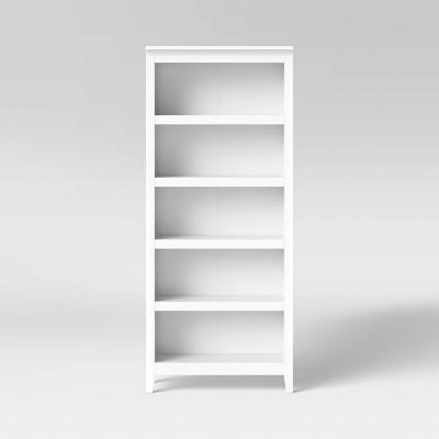 """72"""" Carson 5 Shelf Bookcase White - Threshold™"""