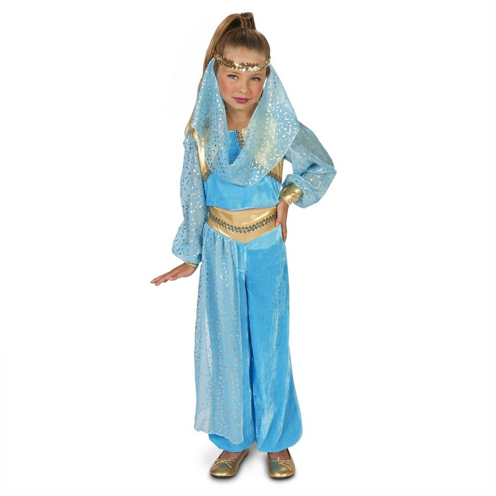 Image of Halloween Girls' Magical Genie Costume L, Girl's, Size: Large, Blue