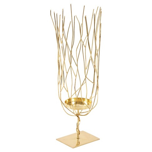 Abstract Candle Holder Gold - A&B Home® - image 1 of 1