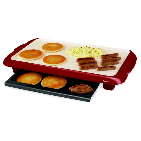 Oster® DuraCeramic™ Griddle with Warming Tray, Red, CKSTGRFM18MR-ECO - image 1 of 1