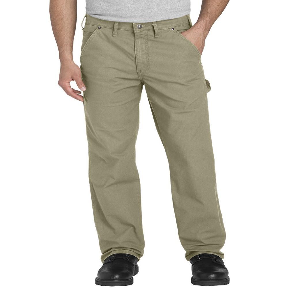 Dickies Men's Tough Max Ripstop Flex Regular Straight Fit Carpenter Pants - Khaki (Green) 38x32