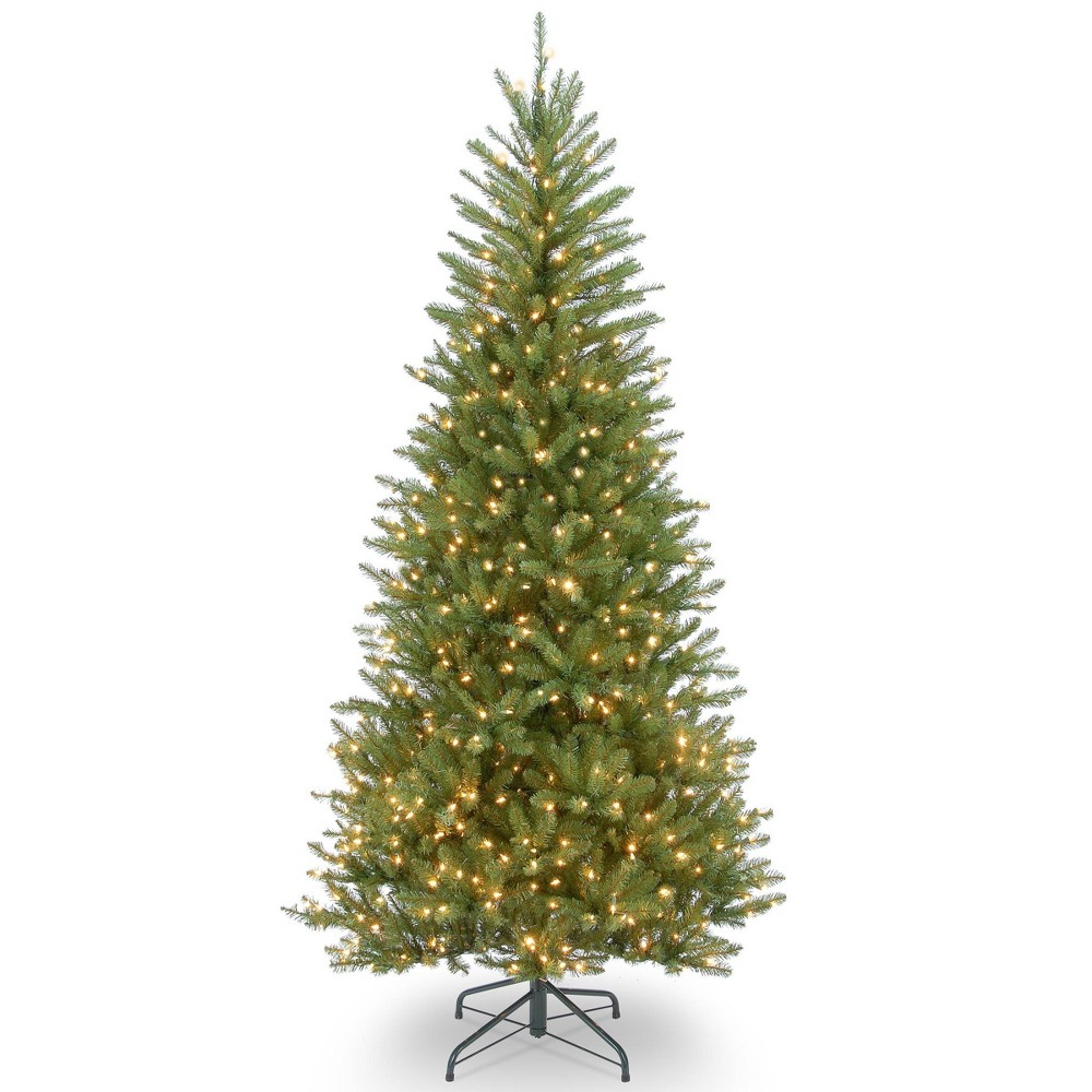 6.5ft National Christmas Tree Company Dunhill Fir Artificial Christmas Tree 500ct Bulb Clear