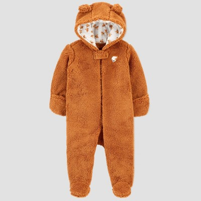 Baby Boys' Pram Dog Snowsuit Jacket - Just One You® made by carter's Brown Newborn
