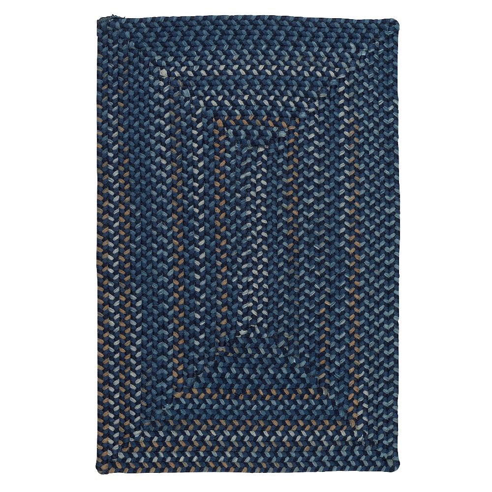 5'X7' Fleck Braided Area Rug Indigo (Blue) - Colonial Mills