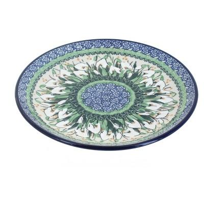 Blue Rose Polish Pottery Snowdrop Dessert Plate