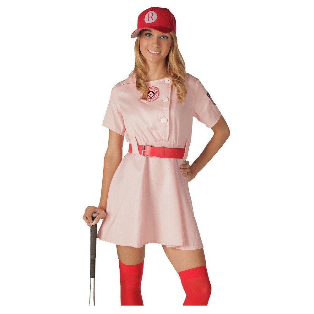 Image of Halloween A League Of Their Own Women's Rockford Peaches Costume Small/Medium