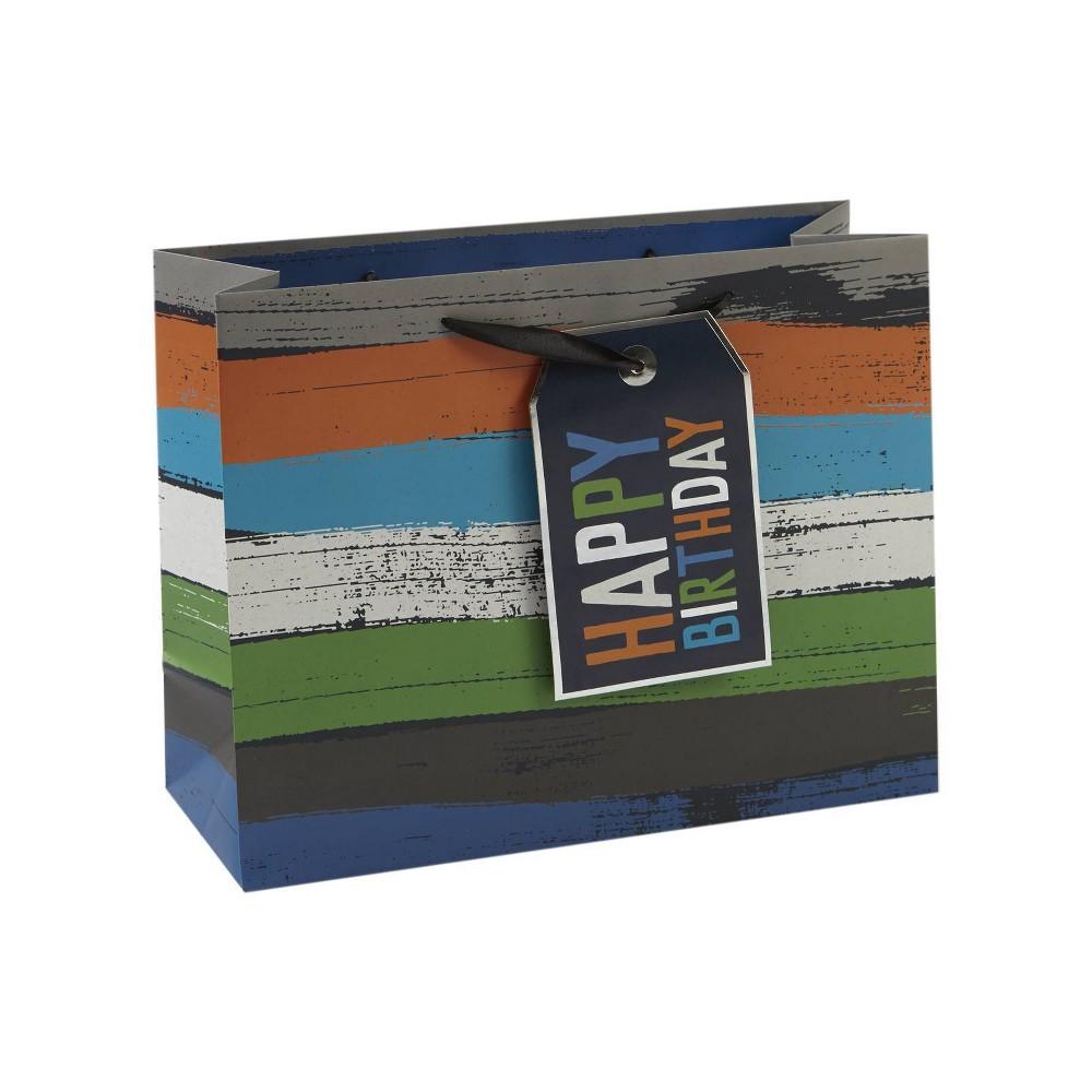 'Happy Birthday' Stripes Vogue Bag - Spritz, Multi-Colored