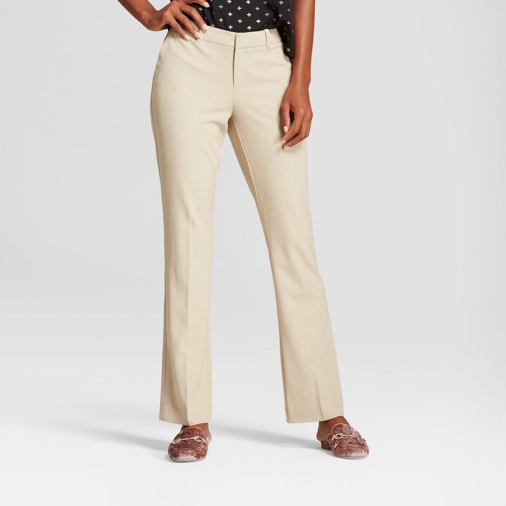 Women's Bootcut Bi-Stretch Twill Pants - A New Day Khaki (Green) 0L, Size: 0 Long
