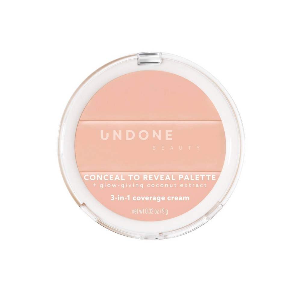 Image of UNDONE BEAUTY Conceal To Reveal 3-in-1 Concealer Palette - Pink Petal Light - 0.32oz