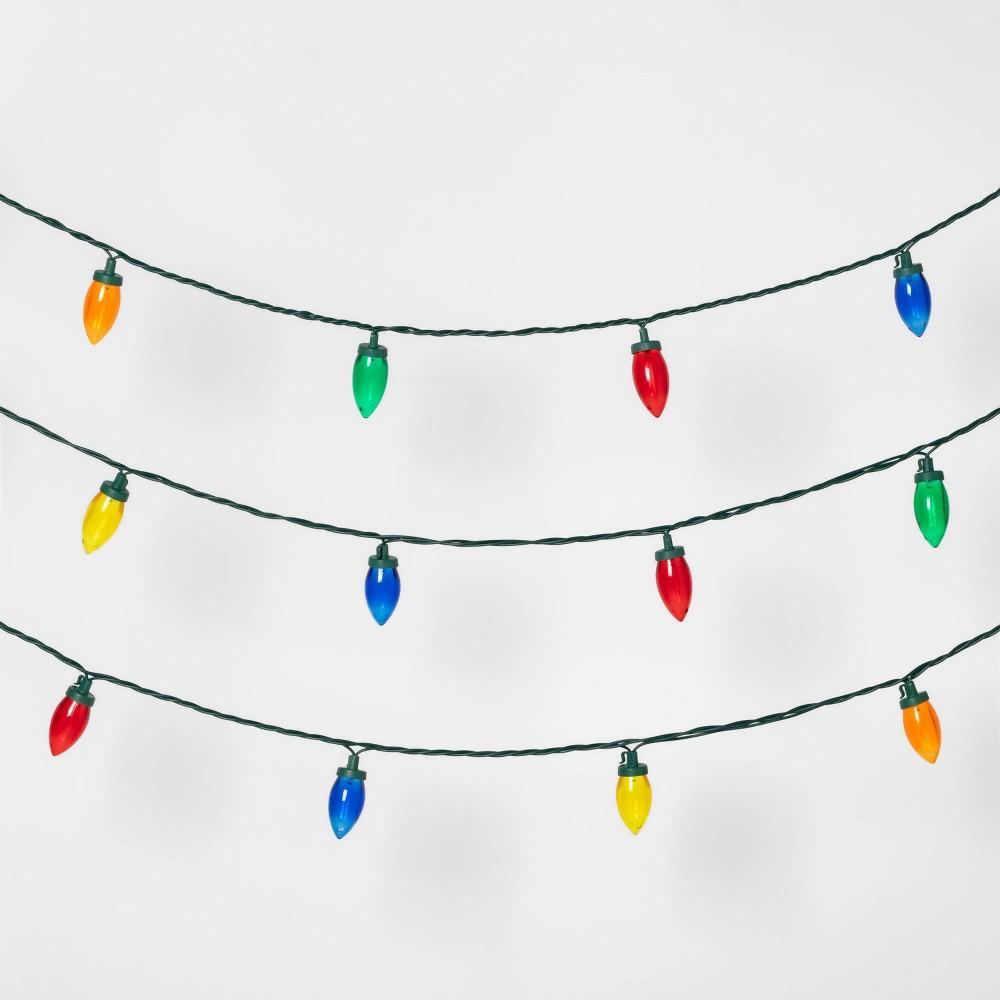 Image of 100ct LED C9 String Lights spool Transparent Multicolor - Wondershop