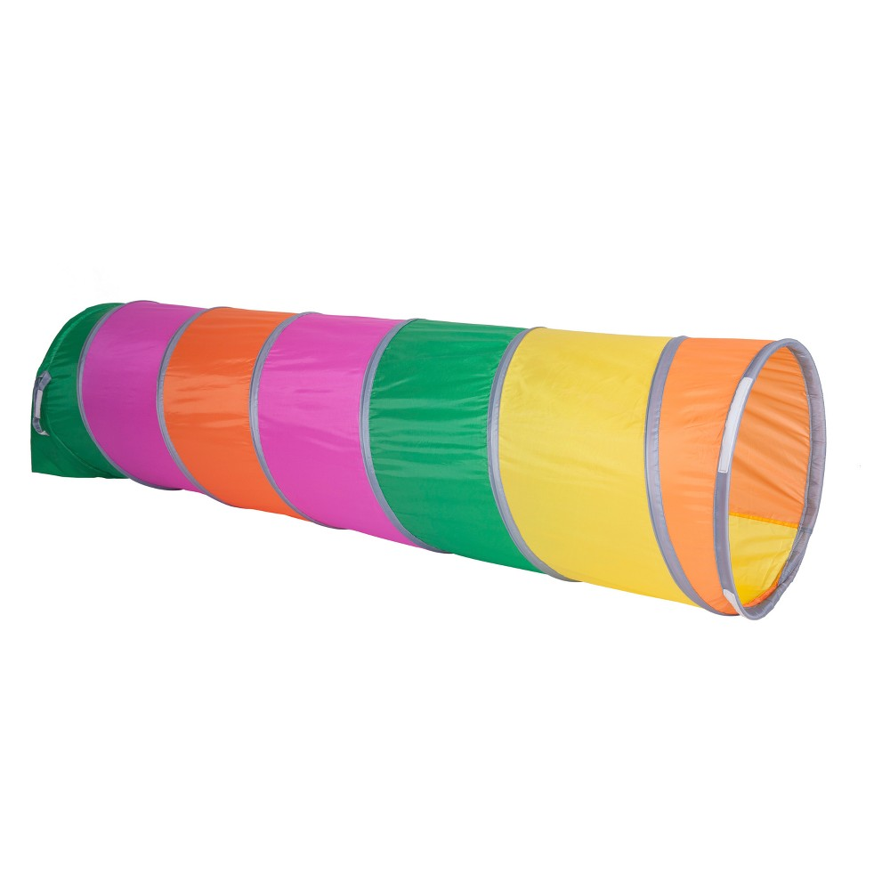 Pacific Play Tents Rainbow Swirl 6' Tunnel, Multi-Colored