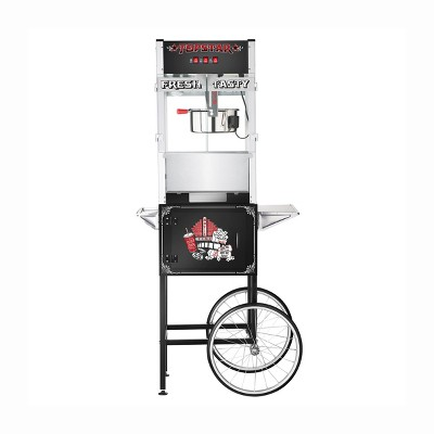 Great Northern Popcorn 12 Ounce Top Star Popcorn Machine- Electric Countertop Popcorn Maker and Cart (Black)