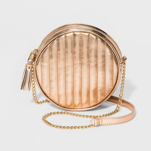 Girls' Round Crossbody Bag - art class™ Gold - image 1 of 4