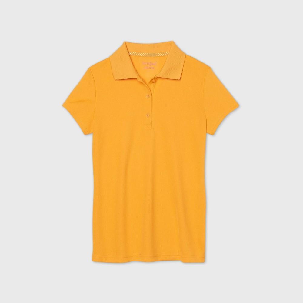 Girls 39 Short Sleeve Performance Uniform Polo Shirt Cat 38 Jack 8482 Gold Xs