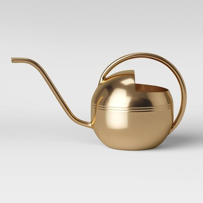 "12.6"" x 6.5"" Stainless Steel Watering Can Gold - Threshold™"