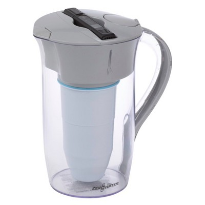 ZeroWater 8 Cup Round Water Pitcher + Free Water Quality Meter