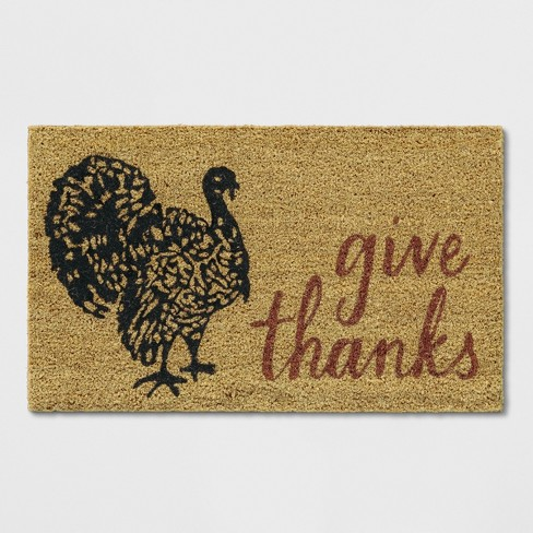 "1'6""x2'6"" Thanksgiving Turkey Doormat Black - Threshold™ - image 1 of 3"