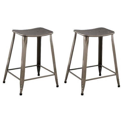 "Saddle Seat 24"" Counter Stool Steel (Set of 2) - Ace Bayou - image 1 of 1"