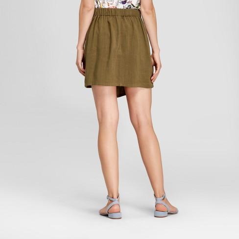 6e4117dbd2 Women's Linen Wrap Mini Skirt - A New Day™ : Target