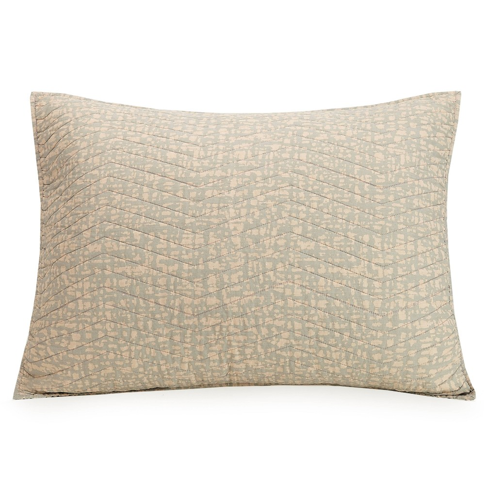 Image of Ayesha Curry King Abstract Texture Sham Taupe/Natural, Gray