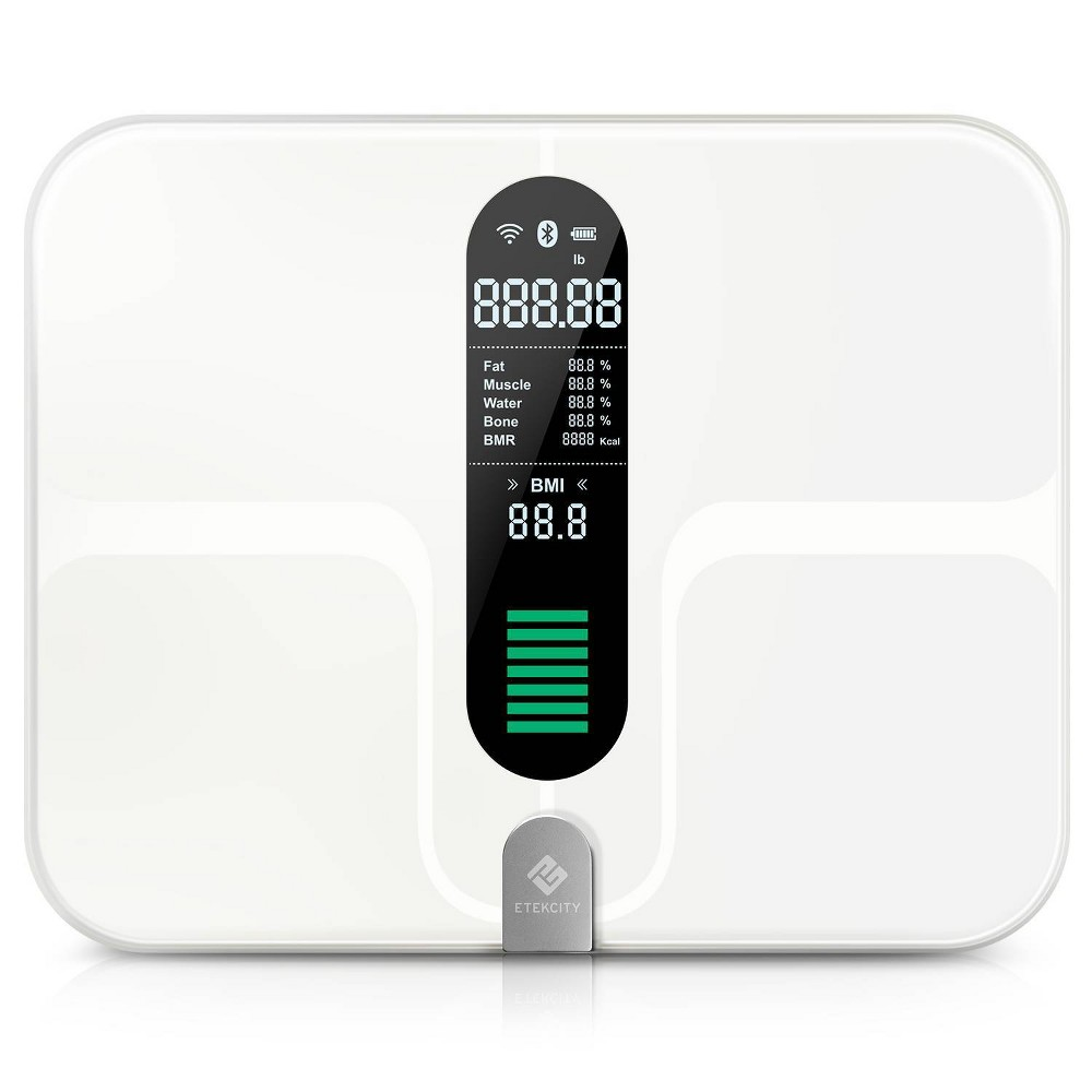Smart Fitness Scale With Body Composition And Resistance Bands Black Etekcity