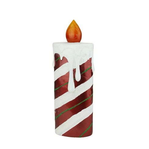 """Northlight 13.75"""" LED Lighted Festive Candy Cane Striped Christmas Candle - Red/White - image 1 of 2"""