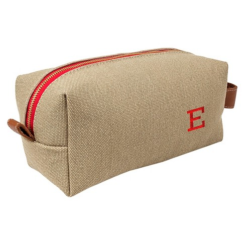 Cathy's Concepts Personalized Tan Waxed Canvas & Leather Dopp Kit - image 1 of 2