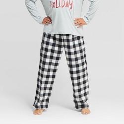 Men's Holiday Buffalo Check Fleece  Pajama Pants - Wondershop™ Black