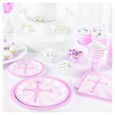Pink and silver Cross Confetti
