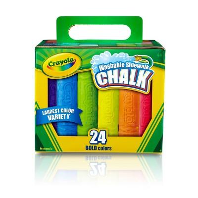 Crayola 24ct Washable Sidewalk Chalk - Bold Colors