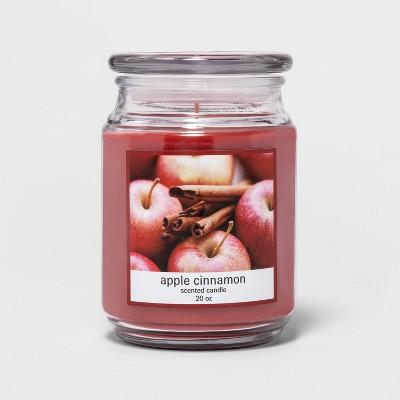 20oz Lidded Glass Jar Apple Cinnamon Candle
