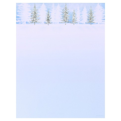 80ct Frosted Trees Holiday Stationery - image 1 of 1