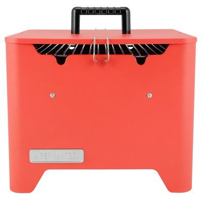 Permasteel  Square Portable Charcoal Grill PG-40C10-RD - Red