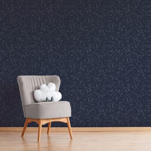 L Stick Wallpaper Constellation Navy Cloud Island