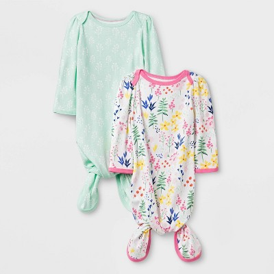 Baby Girls' 2pk Wildflower Nightgown - Cloud Island™ 0-3M