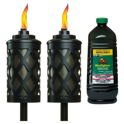 2 X 65  Urban Bronze Metal Torch With 100oz Bitefighter Torch Fuel - TIKI®