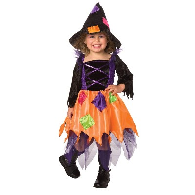 Toddler Patchwork Witch Halloween Costume 1-2T