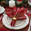 Shimmering Plaid Holiday Tablecloth - Red/Green - Elrene Home Fashions - image 4 of 4