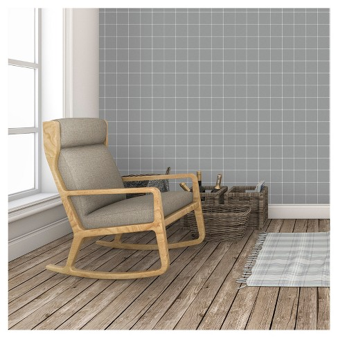 Devine Color Windowpane Plaid Peel & Stick Wallpaper - Buffalo and White - image 1 of 5