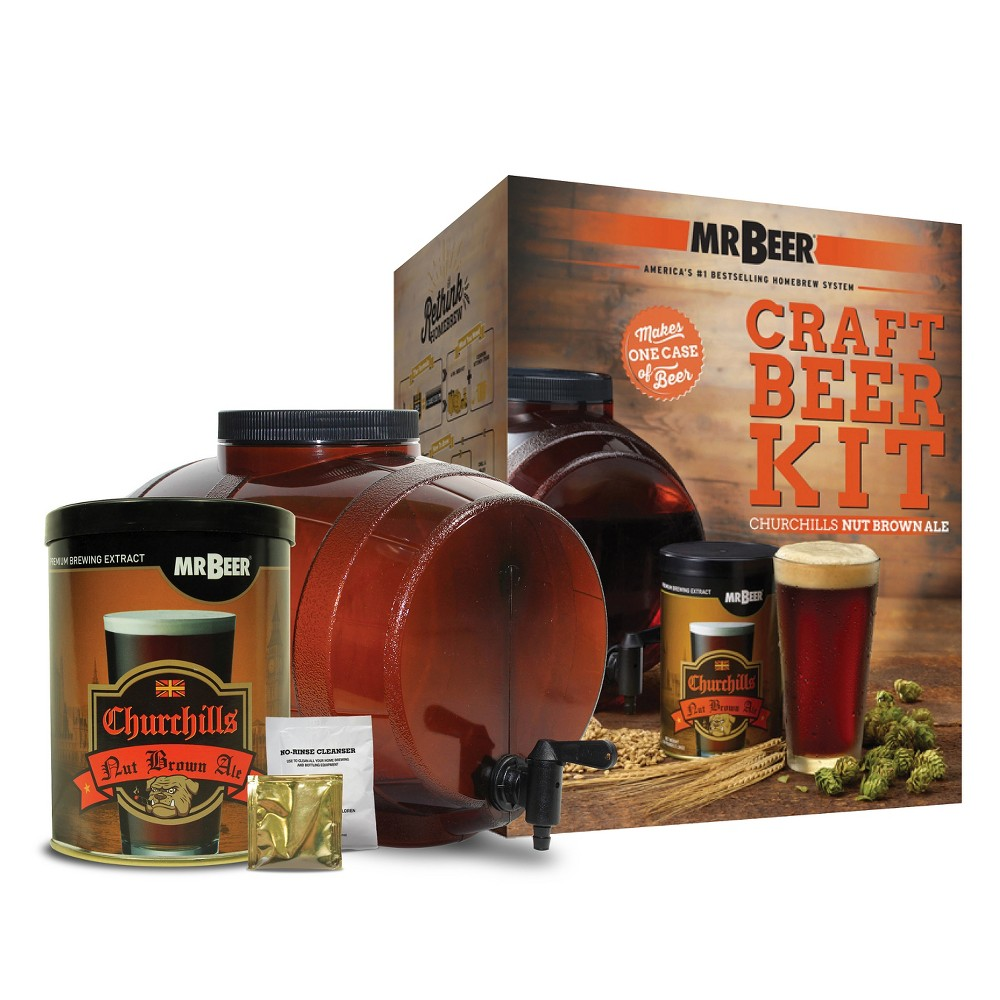 Image of Mr. Beer Churchills Nut Brown Ale Craft Beer Making Kit
