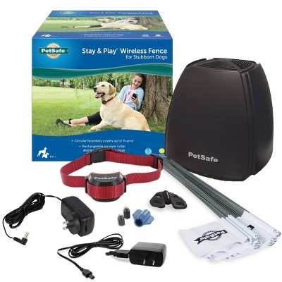 PetSafe Stay and Play Wireless Fence for Stubborn Dogs - Black