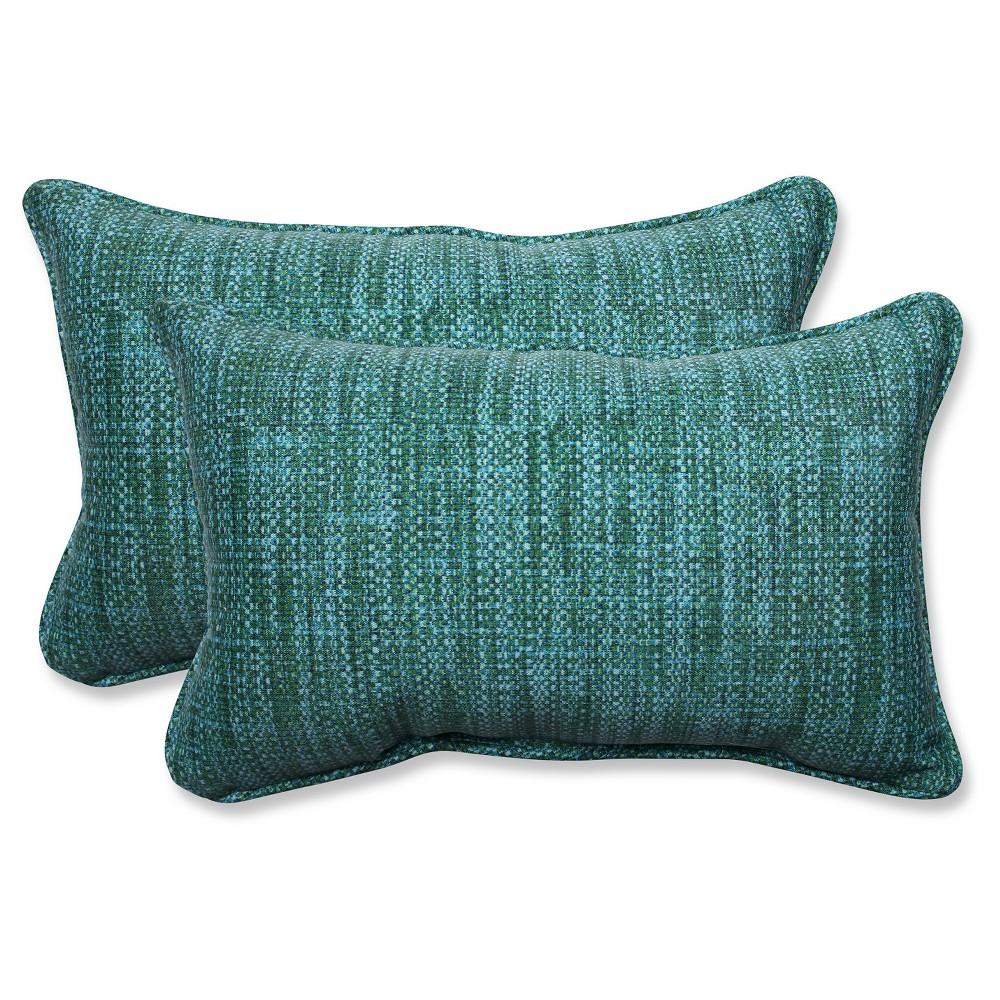 Pillow Perfect Outdoor Throw Pillow Set - Blue