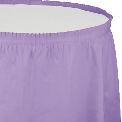 Luscious Lavender Purple Table Skirt