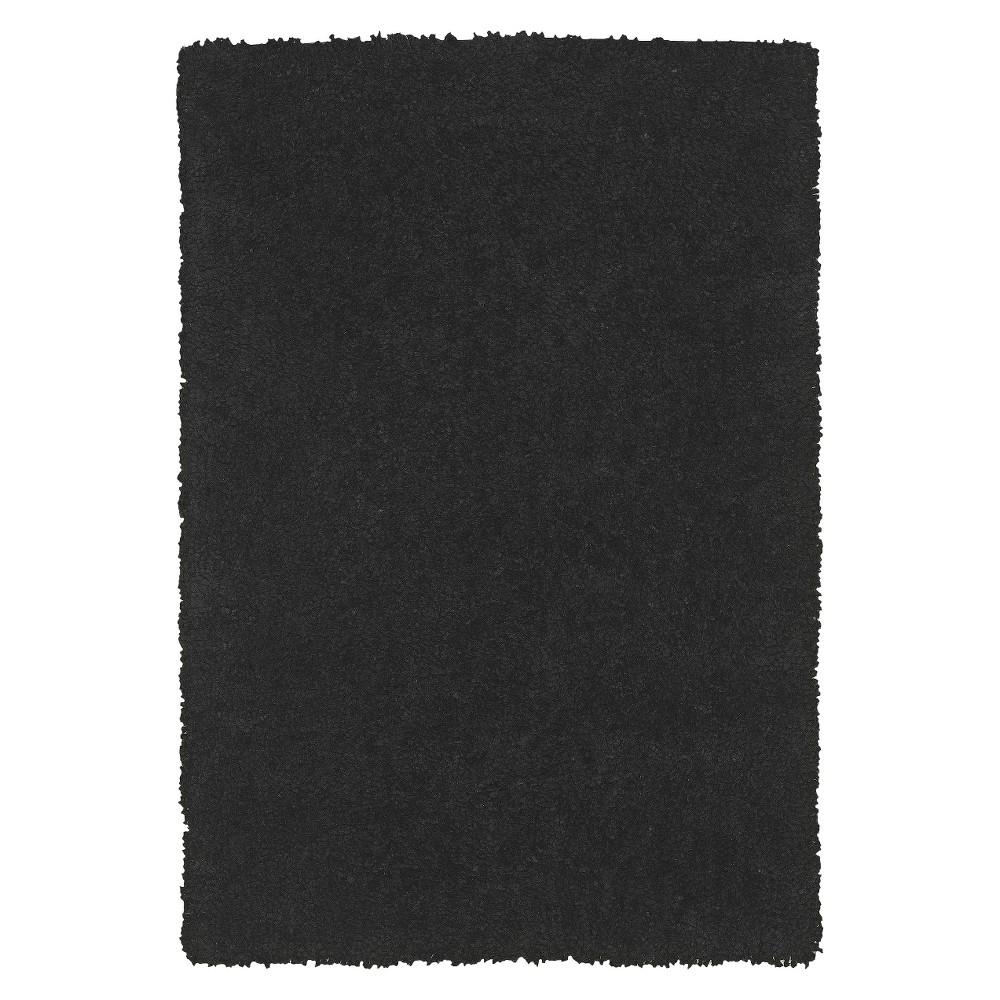 8'x10' Dream Supersoft Shag Area Rug Black - Addison Rugs